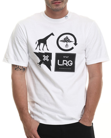 LRG - Men White Logo Cluster T-Shirt