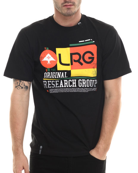 LRG - Men Black Throwback T-Shirt