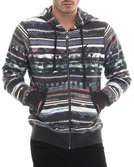 Lrg - Men Multi Research Collection Zip Up Hoodie