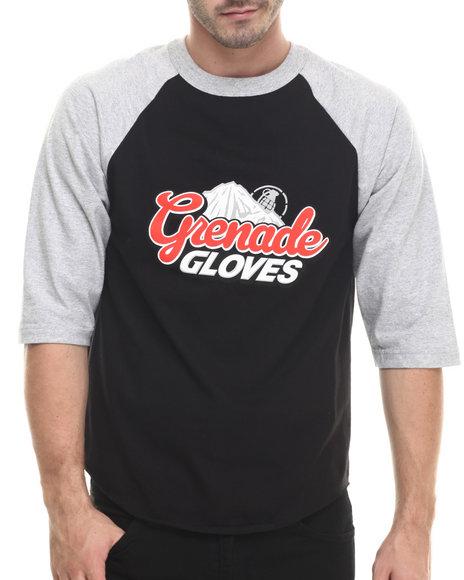 Grenade - Men Black Grenadefest Raglan Baseball Tee