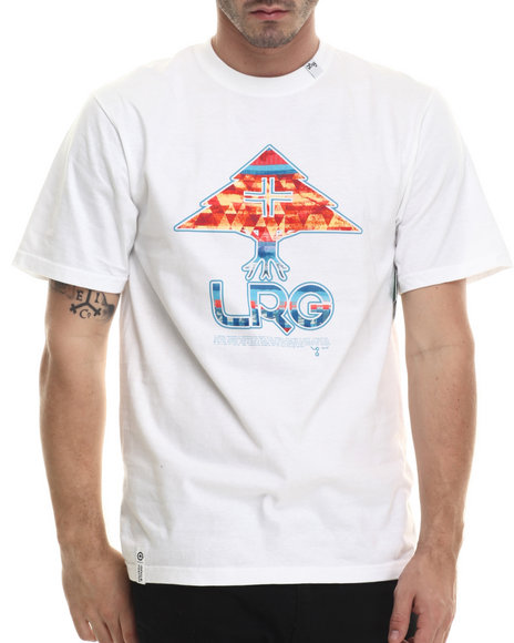 LRG - Men White Neon Tree T-Shirt