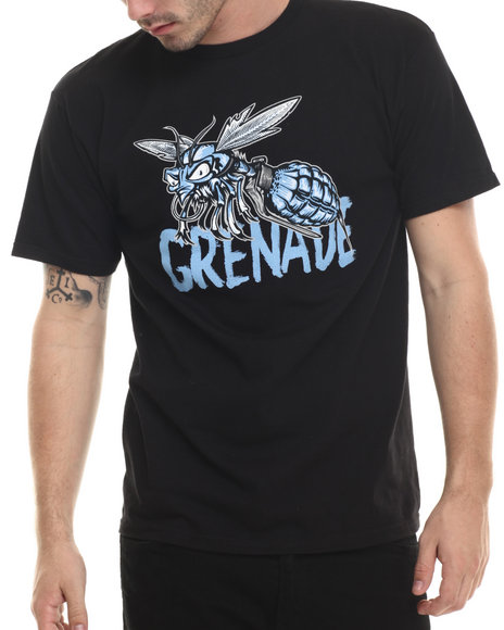 Grenade - Men Black G.A.S. Ice Wasp Tee - $10.99