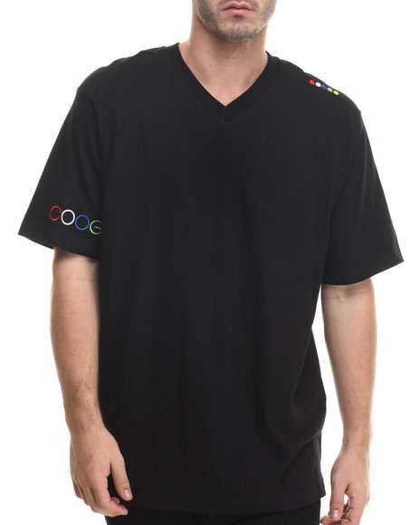 Coogi - Men Black Coogi V-Neck Tee