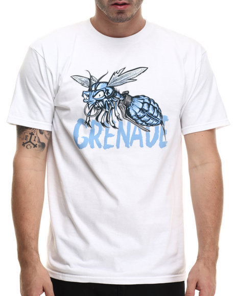 Grenade - Men White G.A.S. Ice Wasp Tee - $11.99