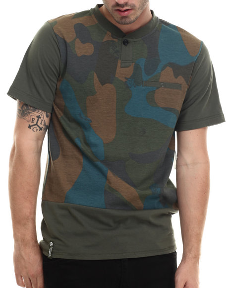 Lrg - Men Camo Tree Tracker Henley