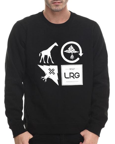 Lrg - Men Black Logo Cluster Crew Sweatshirt