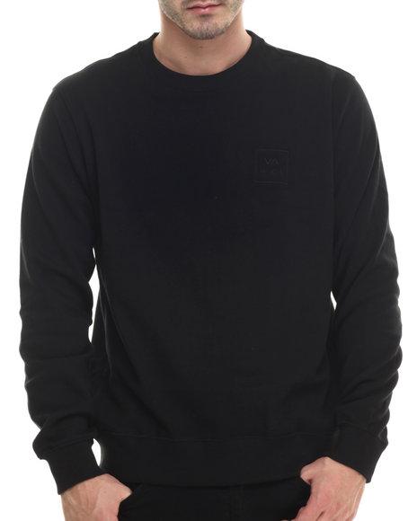 Ur-ID 199900 RVCA - Men Black Va All The Way Crewneck Sweatshirt