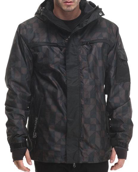 Grenade - Men Black G Squared Snow Jacket