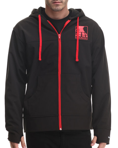 Grenade - Men Red Tech Waterproof Hoodie