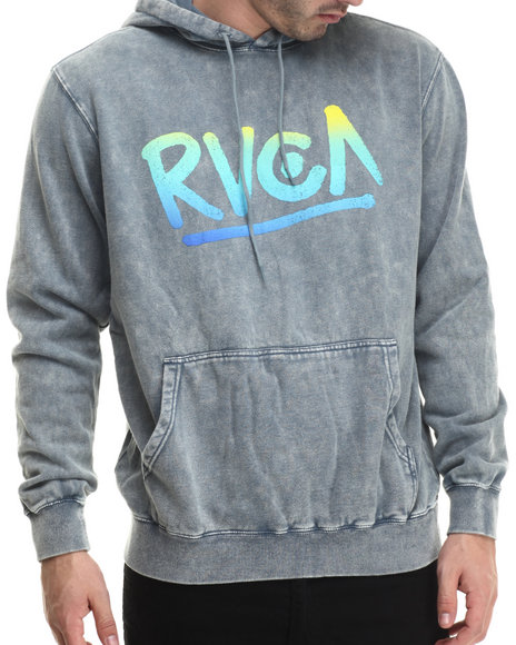 Rvca - Men Grey The Rvca Pullover Hoodie