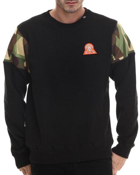 Lrg - Men Black Lifted 47 Crewneck Sweatshirt