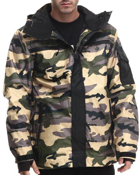 Grenade - Men Camo Fatigue Snow Jacket - $62.99