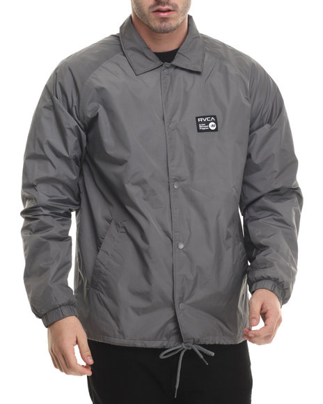 Rvca - Men Grey Anp Coach Jacket - $31.99