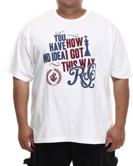 Rocawear - Men White No Idea Tee (B&T) - $25.99