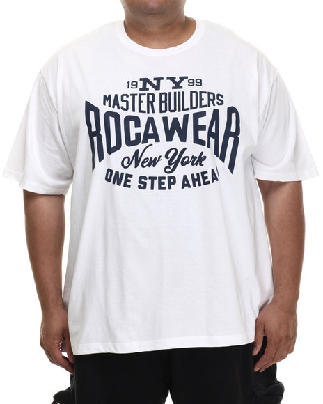 Rocawear - Men White Master Builders Tee (B&T) - $21.99