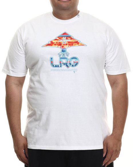 LRG - Men White Neon Tree T-Shirt (B & T)