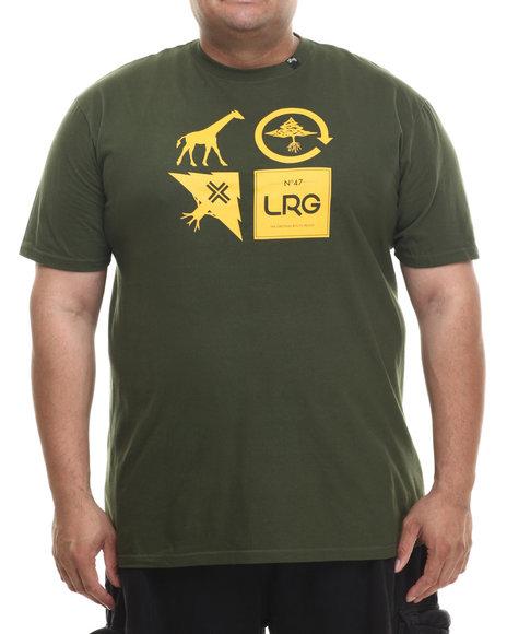 Lrg - Men Green Logo Cluster T-Shirt (B&T)