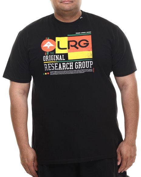 Lrg - Men Black Throwback T-Shirt (B&T)
