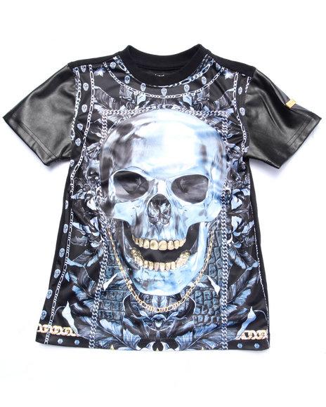 Akademiks - Boys Black Sublimated Skull Tee (4-7) - $34.99