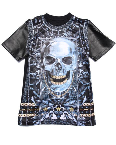 Akademiks - Boys Black Sublimated Skull Tee (8-20) - $23.99