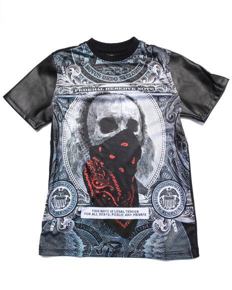 Akademiks - Boys Black Sublimated Skull Tee (8-20) - $31.99