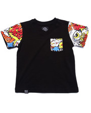 T-Shirts - COMIC POCKET TEE (2T-4T)