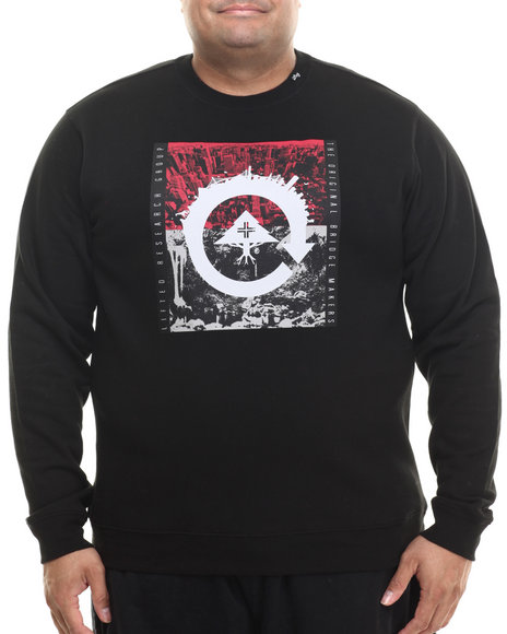 Lrg - Men Black Recycled City Crewneck Sweatshirt (B&T)