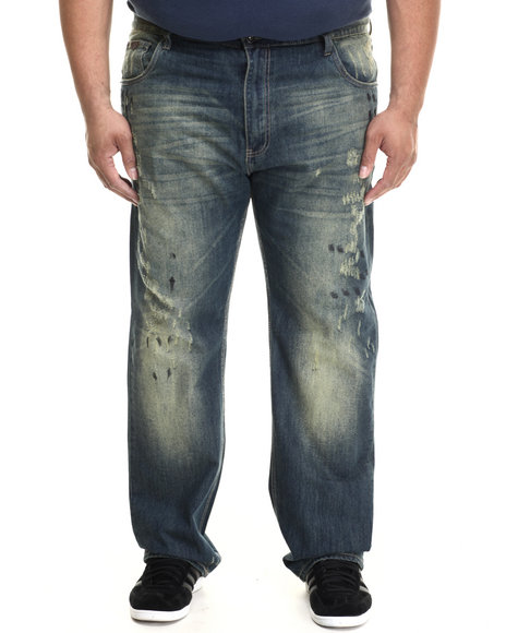Parish - Men Medium Wash Acid Wash Denim Jeans (B&T)