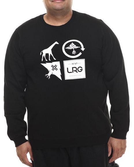 Lrg - Men Black Logo Cluster Crew Sweatshirt (B&T)
