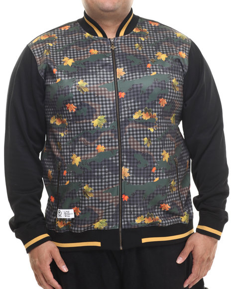 Lrg - Men Black Panda Faced Track Jackt (B&T)