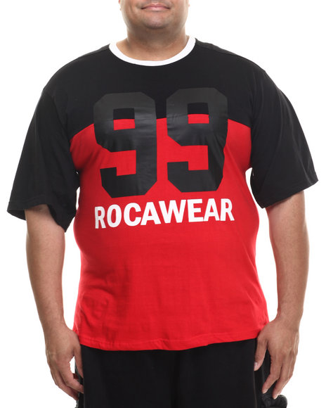 Rocawear - Men Black,Red Reserve S/S Crew Tee (B&T)