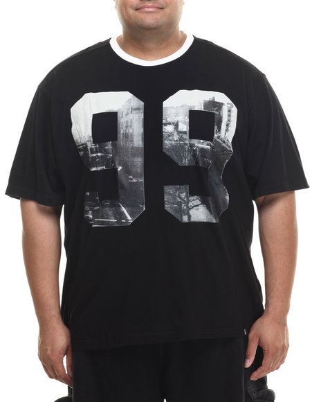 Rocawear - Men Black City Houstin Sublimated S/S Knit Tee (B&T)