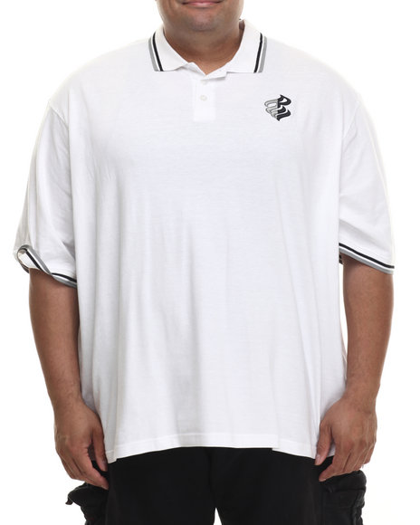 Rocawear - Men White Hooligan S/S Polo (B&T)
