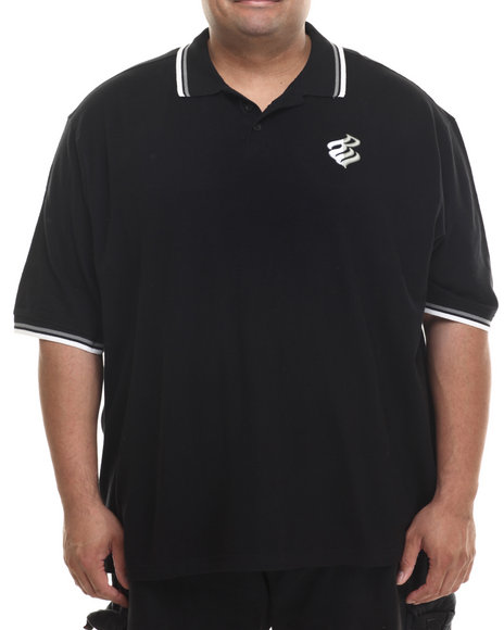 Rocawear - Men Black Hooligan S/S Polo (B&T)