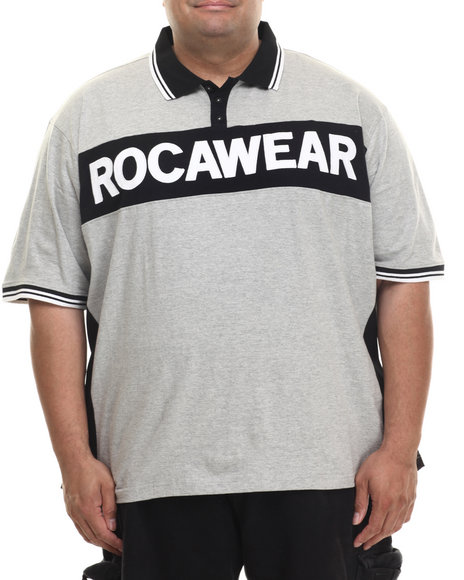 Rocawear - Men Grey Rudie S/S Polo (B&T)