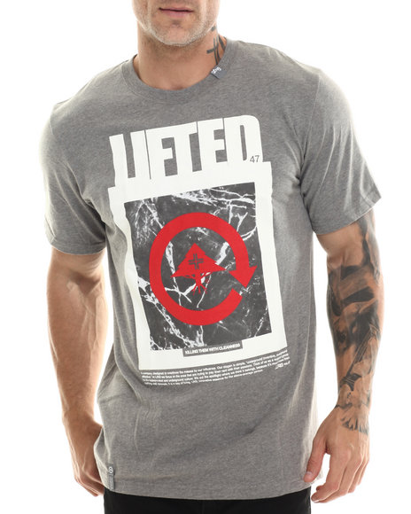 Lrg - Men Charcoal Killing Them With Cleanness S/S Tee