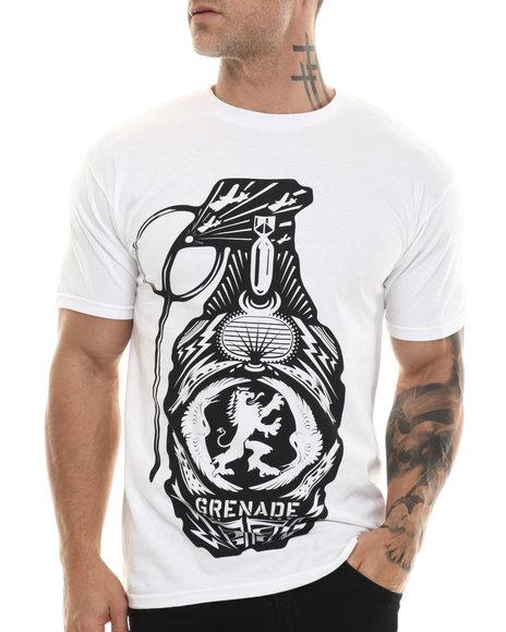 Grenade - Men White Crest Bomb Tee - $20.00