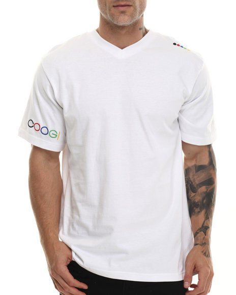 Coogi - Men White Coogi V-Neck Tee