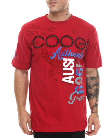Coogi - Men Red Coogi Logo S/S Tee