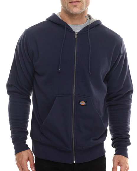 Ur-ID 200013 Dickies - Men Navy Thermal Lined Hooded Fleece