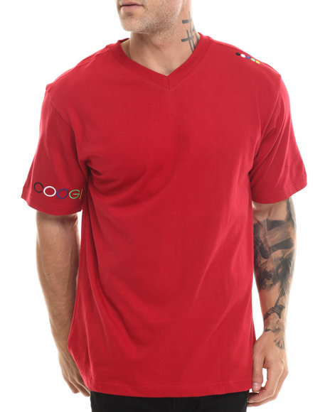 Coogi - Men Red Coogi V-Neck Tee