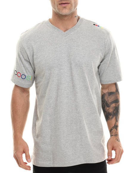 Coogi - Men Grey Coogi V-Neck Tee