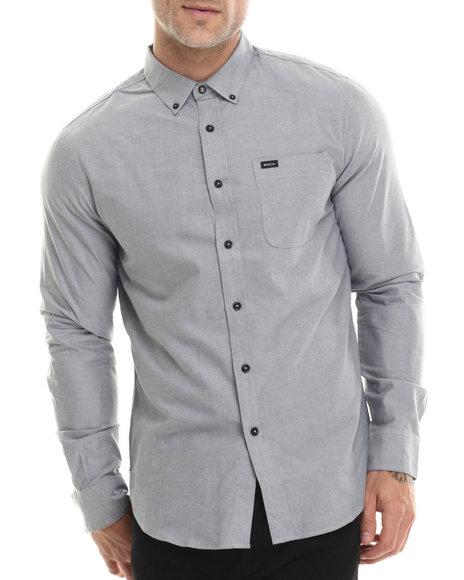 Rvca - Men Grey That'll Do Oxford L/S Button-Down