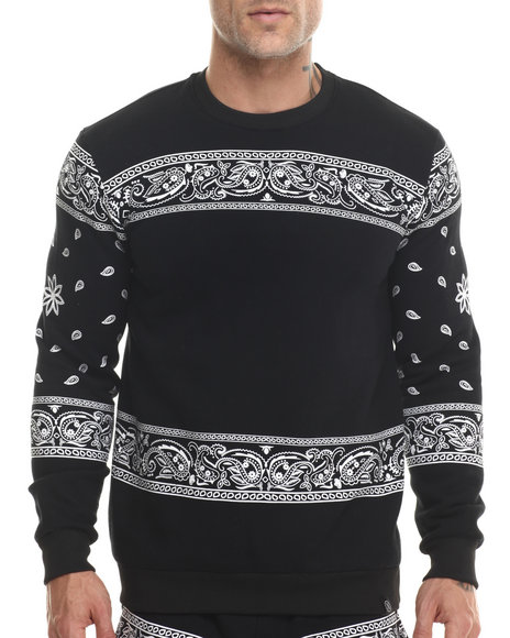 Ur-ID 200015 Hudson NYC - Men Black Lowrider Crewneck Sweatshirt