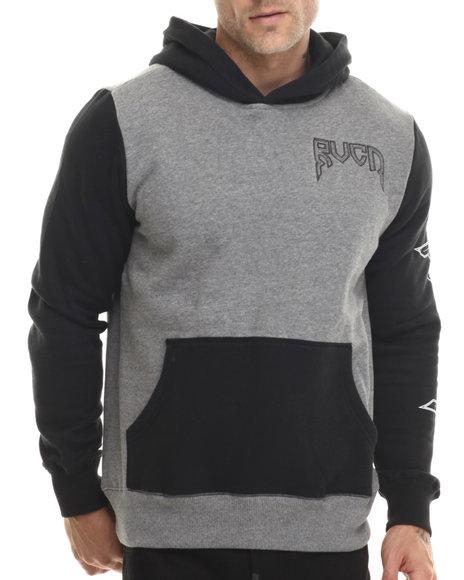 Rvca - Men Grey Guru Board Pullover Hoodie