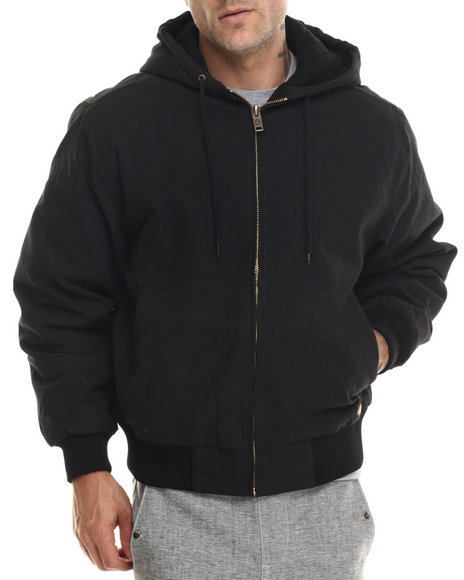 Dickies - Men Black Dickies Sanded Duck Hooded Jacket