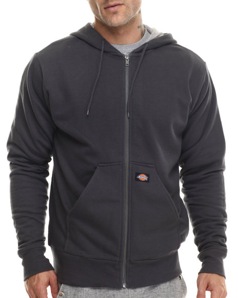 Dickies - Men Charcoal Thermal Lined Hooded Fleece