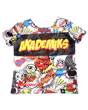 Akademiks - ALL OVER COMIC PRINT TEE (2T-4T)