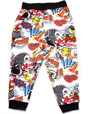 Bottoms - COMIC PRINT JOGGERS (2T-4T)
