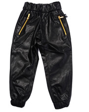Bottoms - FAUX LEATHER JOGGER (4-7)
